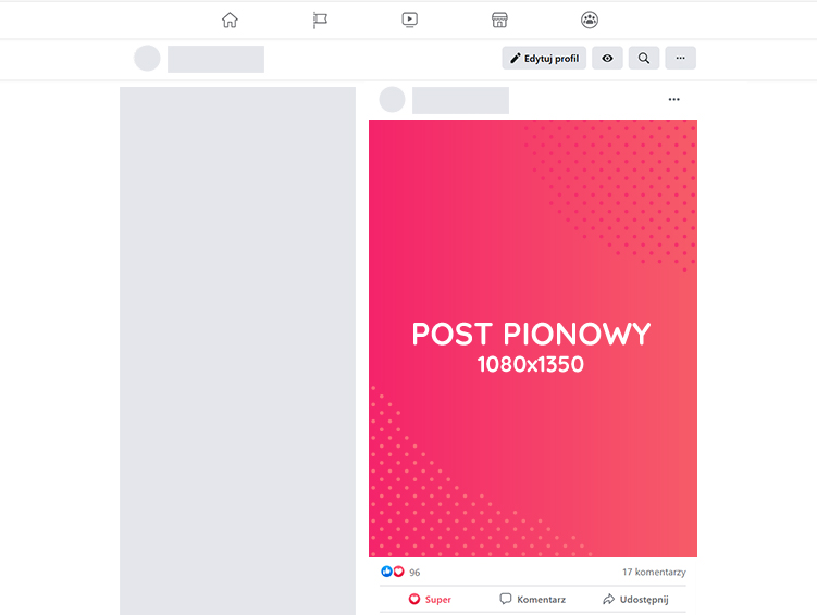 Post pionowy Facebook